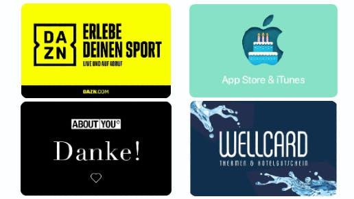 15% Bonusguthaben für App Store & iTunes / 17% Rabatt auf DAZN / 15% auf ABOUT YOU