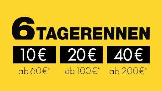 10€ Rabatt ab 60€, 20€ ab 100€, 40€ ab 200€