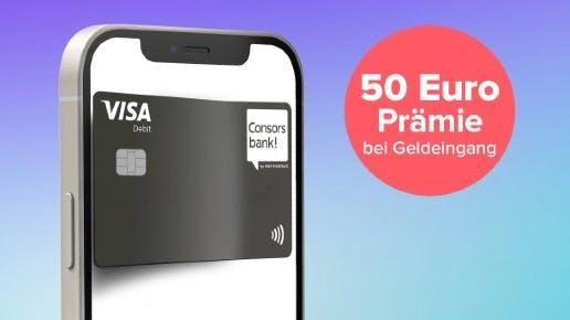 Kostenloses Consorsbank Girokonto: 50€ Cashback + 50€ Guthaben