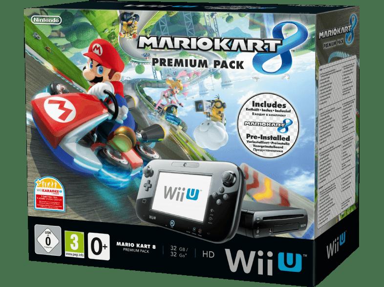Saturn: NINTENDO Wii U Mario Kart 8 Premium Pack Schwarz für 289 Euro versandkostenfrei