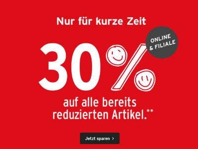 30% Extra-Rabatt auf Sale-Artikel bei Ernsting's family
