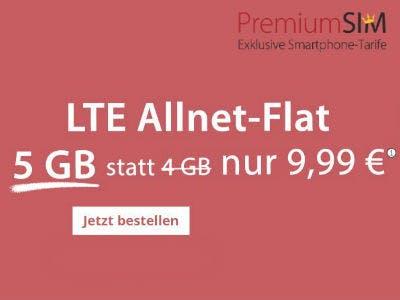 5GB LTE für nur 9,99€/Monat